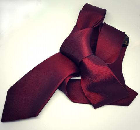 Cherry & Black Two Tone 100% silk skinny tie